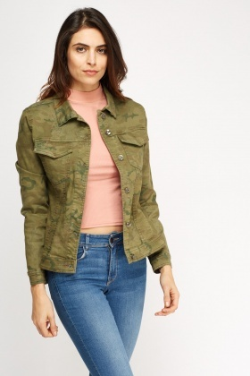 Camouflage Denim Jacket