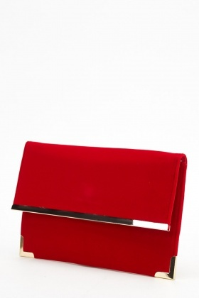 Contrast Trim Clutch Bag