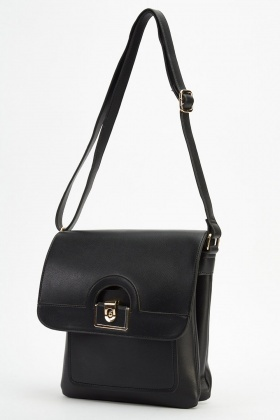 Detailed Flap Crossbody Bag