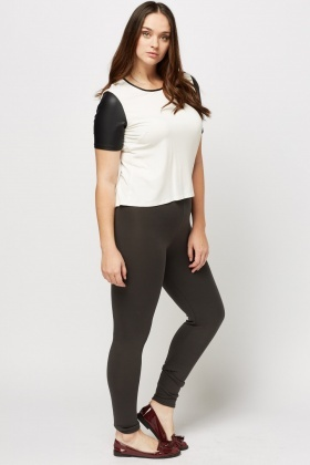 Embellished Waist Leggings