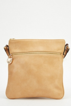 Faux Leather Classic Crossbody Bag
