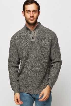 High Neck Speckled Jumper