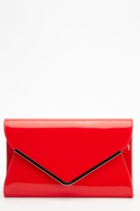 PVC Metal Trim Envelope Clutch
