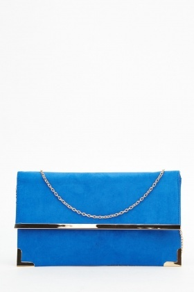 Suedette Clutch Bag