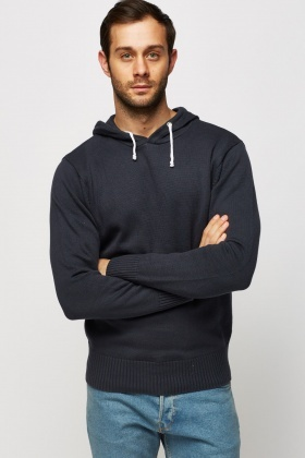 Casual Knitted Hoodie