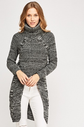 Cut Out Front Knitted Jumper