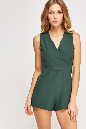 Scallop Wrapped Trim Playsuit