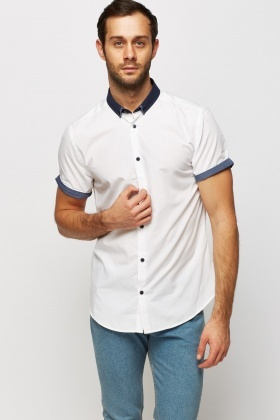 Two Tone Short Sleeve Shirt