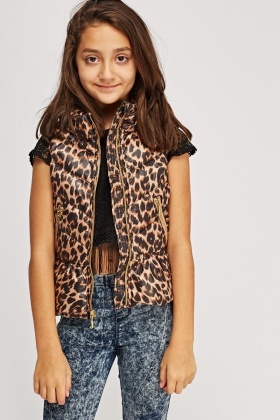 Juicy Couture Mimi Winter Leopard Vest