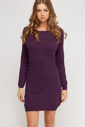 Knitted Casual Jumper Dress