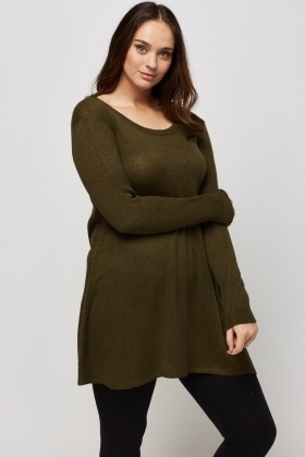 Knitted Longline Jumper