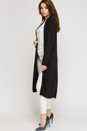 Thin Long Line Cardigan - Black or Grey - Just £5