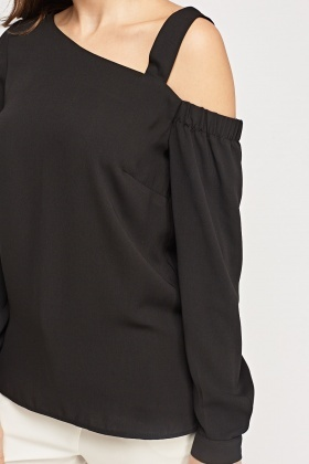 One Shoulder Sheer Top