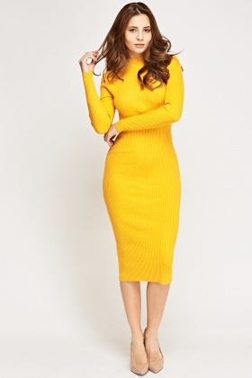 Ribbed Knitted Bodycon Dress - Just £5 bd1cb8a8c