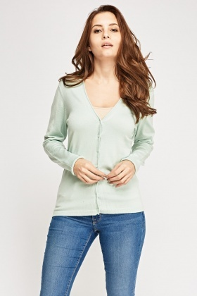 V-Neck Button Up Cardigan
