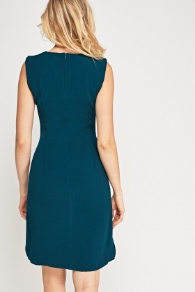 Tie Up Front Textured Dress