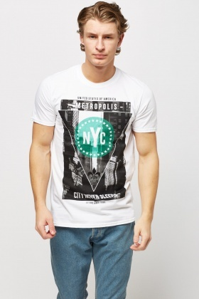 NYC Printed White T-Shirt