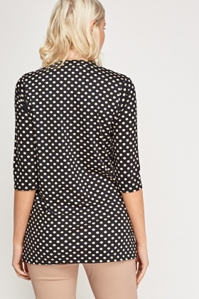 V-Neck Polka Dot Blouse