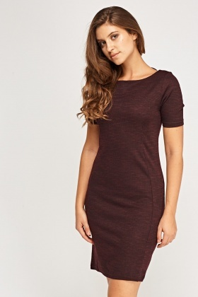 Short Sleeve Speckled Shift Dress