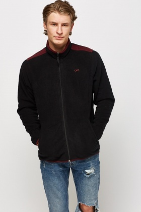 High Neck Zip Up Fleece Jumper
