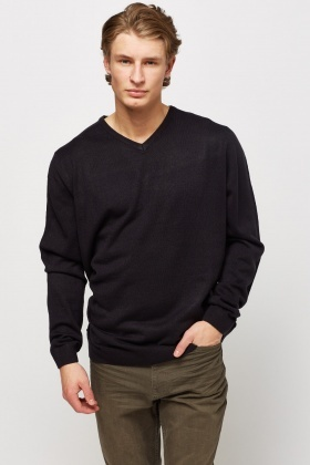 V-Neck Basic Jumper