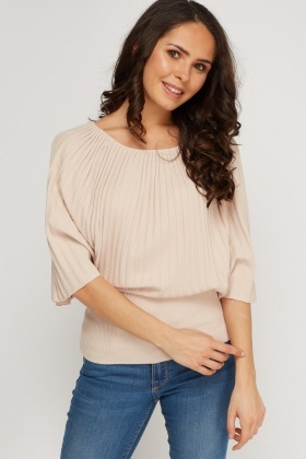 Batwing Ribbed Top