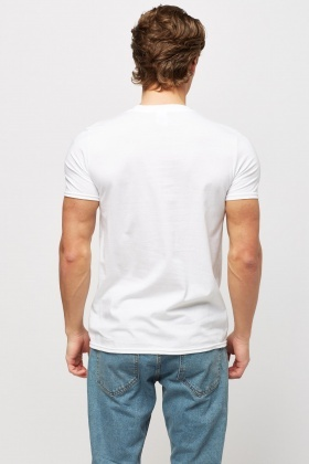Logo Print Cotton White T-shirt