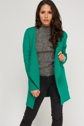 Waterfall Green Knitted Cardigan