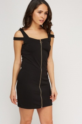 Zip Front Detail Back Dress