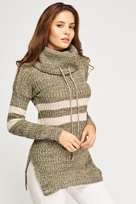 Striped Knitted Speckle Jumper