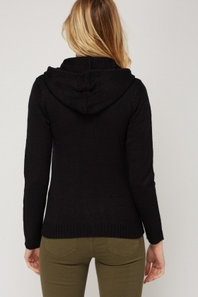 Cable Knit Zip Up Jumper