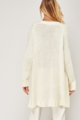 Longline Knitted Cardigan