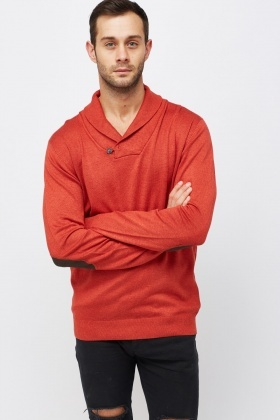 Shawl Collar Knit Jumper