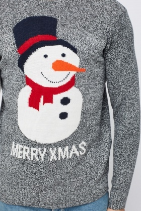 Snowman Speckle Knitted Jumper