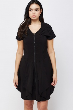 Zip Up Hooded Dress