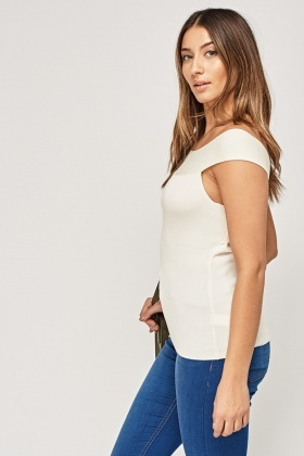 Criss Cross Back Ribbed Top