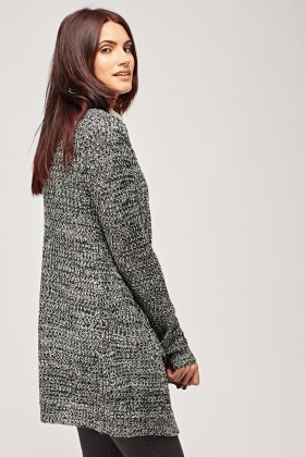 Speckled Loose Knit Cardigan