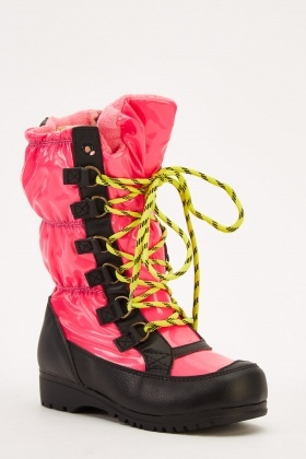 Contrast Kids Boots