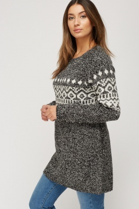 Aztec Knitted Jumper