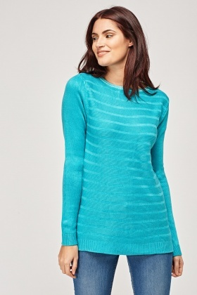 Basic Turquoise Knitted Pullover