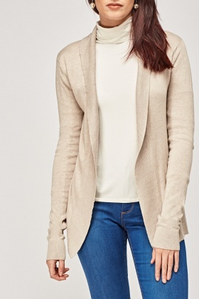 Knitted Open Front Cardigan