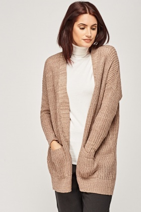 Loose Knit Light Mauve Cardigan