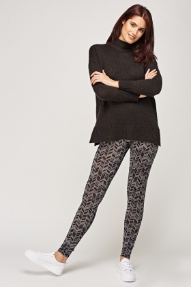 Mono Printed Leggings