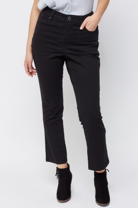 Straight Leg Charcoal Jeans
