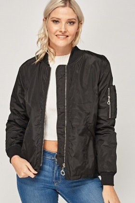 Detailed Back Bomber Jacket