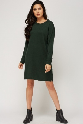 Round Neck Knitted Dress