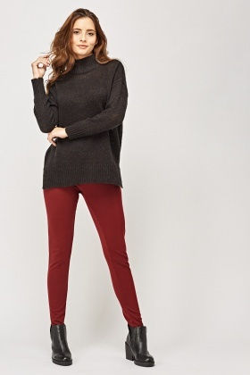 Contrast Elastic Band Leggings