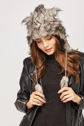 Faux Fur Wolf Hat