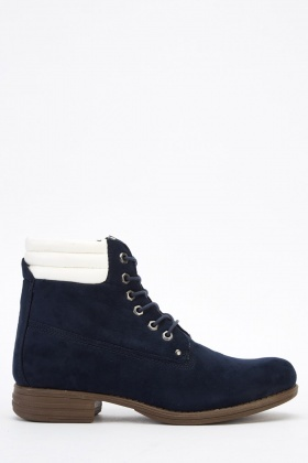 Quilted High Top Boots