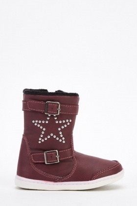 Studded Star Kids Boots
